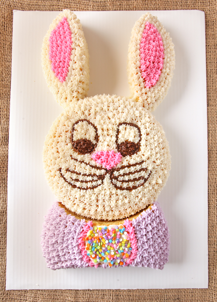 Easter bunny cut up cake tutorial