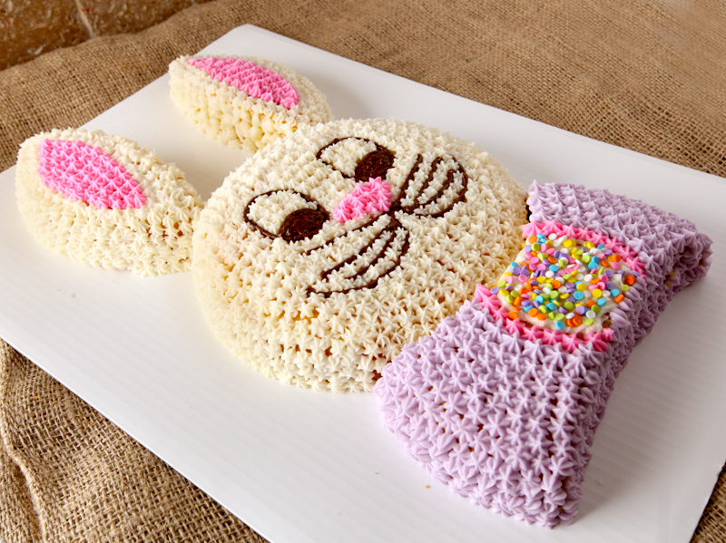Easy cut up bunny cake tutorial