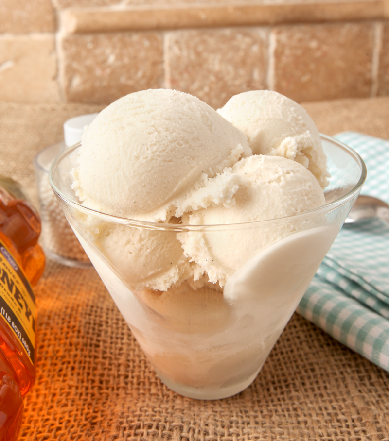 Luscious honey vanilla ice cream