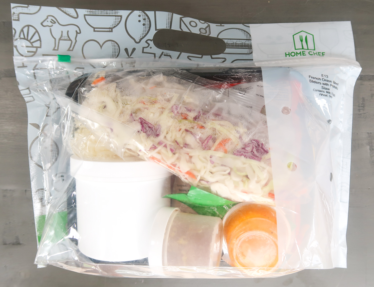 How meals are packaged in home chef boxes