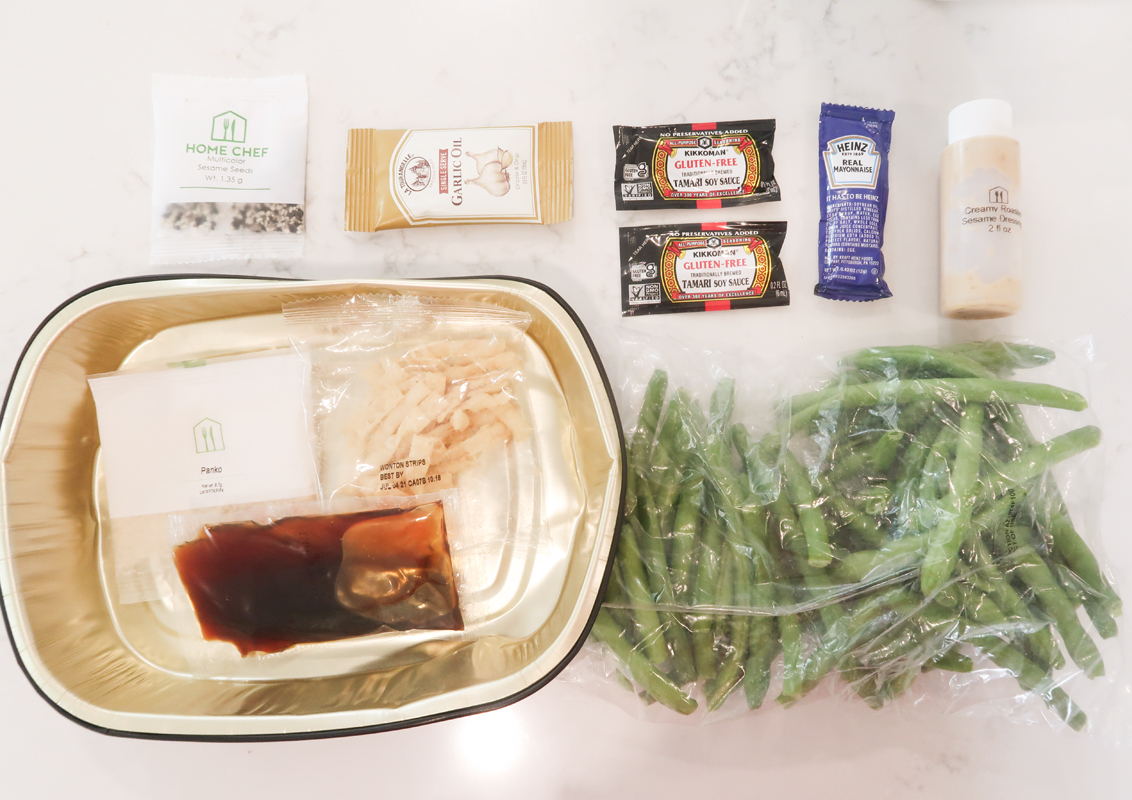 Flat lay of Home Chef ingredients