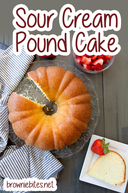 easy sour cream pound cake for pinterest