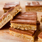 A stack of lunch lady peanut butter bars